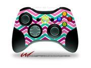 XBOX 360 Wireless Controller Decal Style Skin - Zig Zag Teal Pink Purple - CONTROLLER NOT INCLUDED