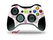 XBOX 360 Wireless Controller Decal Style Skin - Flamingos on White - CONTROLLER NOT INCLUDED