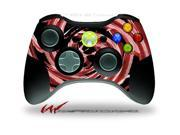 XBOX 360 Wireless Controller Decal Style Skin - Alecias Swirl 02 Red - CONTROLLER NOT INCLUDED