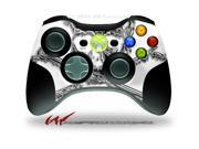 XBOX 360 Wireless Controller Decal Style Skin - Chrome Skull on White - CONTROLLER NOT INCLUDED