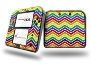 Zig Zag Rainbow - Decal Style Vinyl Skin fits Nintendo 2DS
