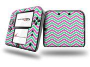 Zig Zag Teal Green and Pink Decal Style Vinyl Skin fits Nintendo 2DS