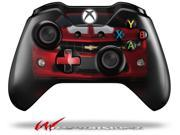 2010 Chevy Camaro Jeweled Red White Stripes on Black Decal Style Skin fits Microsoft XBOX One Wireless Controller CONTROLLER NOT INCLUDED