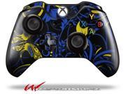 Twisted Garden Blue and Yellow Decal Style Skin fits Microsoft XBOX One Wireless Controller CONTROLLER NOT INCLUDED