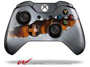 Ripped Metal Fire - Decal Style Skin fits Microsoft XBOX One Wireless Controller - CONTROLLER NOT INCLUDED