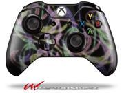 Neon Swoosh on Black Decal Style Skin fits Microsoft XBOX One Wireless Controller CONTROLLER NOT INCLUDED