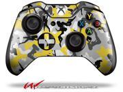Sexy Girl Silhouette Camo Yellow - Decal Style Skin fits Microsoft XBOX One Wireless Controller - CONTROLLER NOT INCLUDED
