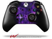 Flaming Fire Skull Purple - Decal Style Skin fits Microsoft XBOX One Wireless Controller - CONTROLLER NOT INCLUDED