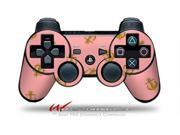 Sony PS3 Controller Decal Style Skin Anchors Away Pink CONTROLLER SOLD SEPARATELY