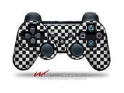 Sony PS3 Controller Decal Style Skin Checkered Canvas Black and White CONTROLLER SOLD SEPARATELY