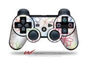 Sony PS3 Controller Decal Style Skin Kearas Flowers on White CONTROLLER SOLD SEPARATELY