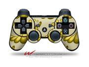 Sony PS3 Controller Decal Style Skin Petals Yellow CONTROLLER SOLD SEPARATELY