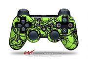 Sony PS3 Controller Decal Style Skin - Scattered Skulls Neon Green (CONTROLLER SOLD SEPARATELY)
