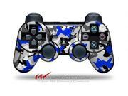 Sony PS3 Controller Decal Style Skin - Sexy Girl Silhouette Camo Blue (CONTROLLER SOLD SEPARATELY)