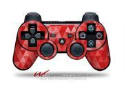 Sony PS3 Controller Decal Style Skin Triangle Mosaic Red CONTROLLER SOLD SEPARATELY