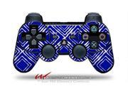 Sony PS3 Controller Decal Style Skin Wavey Royal Blue CONTROLLER SOLD SEPARATELY