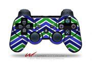 Sony PS3 Controller Decal Style Skin Zig Zag Blue Green CONTROLLER SOLD SEPARATELY