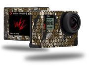HEX Mesh Camo 01 Brown - Decal Style Skin fits GoPro Hero 4 Silver Camera (GOPRO SOLD SEPARATELY)