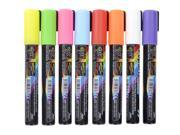 Flashingboards® 8pcs 5.5MM Fluorescent Neon Highlighter Wet Liquid Chalk Marker Pen Dry Erase for LED Writing Board