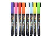 Flashingboards® 8pcs 3MM Fluorescent Neon Highlighter Wet Liquid Chalk  Marker Pen Dry Erase for LED Writing Board