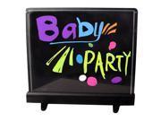 "Flashingboards Lighted Writable LED Erasable Illuminated Board 17""x17"" Message Writing Board"