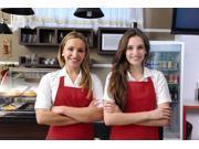 AMC New Restaurant Commercial Kitchen Chef Bib Apron, Burgundy