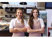 AMC New Restaurant Commercial Kitchen Chef Bib Apron Khaki