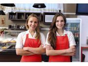 Poly Bib Apron Craft Restaurant Commercial Kitchen Chef Bib Apron Waist Apron Red Color