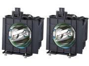 Panasonic ET-LAD40W LCD Projector Lamp OEM Compatible 2 Projector Bulbs