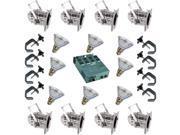 8 Silver Short PAR CAN 38 90w PAR38 FL Dimmer C Clamp
