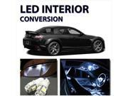 Bright WHITE LED Lights 8pc Interior Package for Mazda RX8 2009-2012