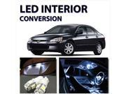7pcs Bright WHITE LED Lights Interior Package For Honda Accord 1998-2002