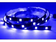 Blue 30cm (12 inch 1FT) LED 5050 SMD Strip Waterproof Flexible Expandable (2 Pack)