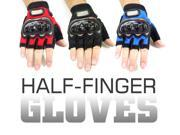 Biker Bicycle Motorcycle Riding Half Finger Protective Gloves (Available in Blue, Black & Red colors and M, L & XL sizes) 9SIA0XA1BY7715