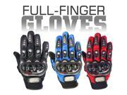 Carbon Fiber Pro-Biker Bike Motorcycle Motorbike Racing Gloves (Available in Blue, Black & Red colors and M, L & XL sizes) 9SIA0XA1BY7747