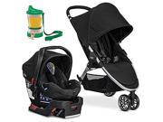 Britax 2017 B-Agile/B-Safe 35 Travel System, Black With Non-Spill Cup and Snack Container(Colors May Vary)