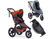 BOB Revolution PRO Stroller with Tray & Weather Shield Bundle (Canyon)