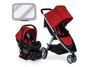 Britax B-Lively & B-Safe 35 Travel System, Cardinal With Mirror Bundle