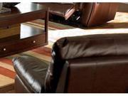 Recliner in Brown Leather Match by Coaster Furniture