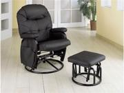 Leatherette Black Recliner