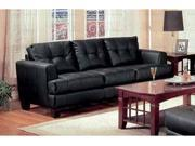 Samuel Collection Black Leather Sofa by Coaster Furniture