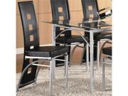 Los Feliz Side Chair in Silver/Black Finish (Set Of 2) by Coaster