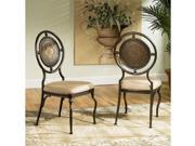 "Basil ""Antique Brown"" Dining Side Chairs, 18"" Seat Height - 2 pcs in 1 carton"