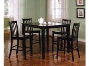 5piece Counter Height Dining Set In Black By Coaster Furniture image