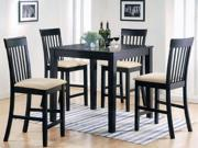 5pc Pack Dinette Set Counter Height in Espresso Finish by Acme