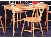 Damen Rectangle Leg Dining Table in Warm Natural Wood Finish by Coaster