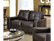 Jasmine Brown Leather Loveseat  by Coaster