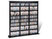 Black Triple Width Barrister Storage Tower for Multimedia (DVD,CD,Games) By Prepac 9SIAD245E23787