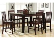 7-piece Solid Wood Dining Set - Espresso by Walker Edison