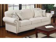 Norah Antique Inspired Sofa with Nail Head Trim by Coaste